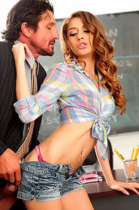 Horny Schoolgirl Sucks Her Teacher