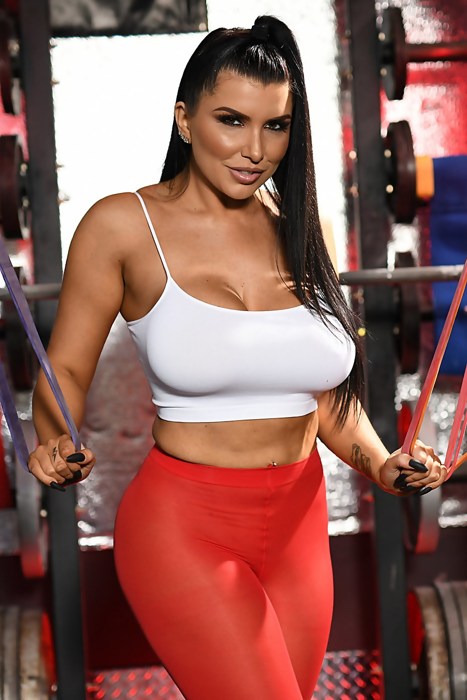 Romi Rain In The Gym