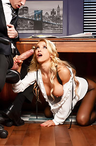 Alix Lynx Takes On Fat Cock In Office