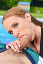 Blowjob and 69 Poolside